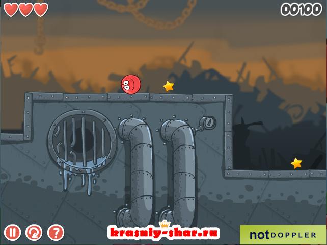 Бесплатная игра «Красный мяч 6»
