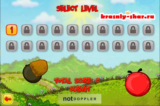 Онлайн игра красный шар 3