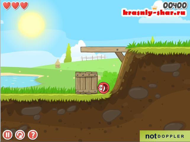 Онлайн игра красный шар 2