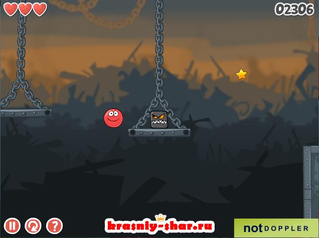 «Красный мяч 6» — бесплатная онлайн игра