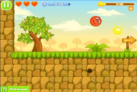 Онлайн игра красный шар 5